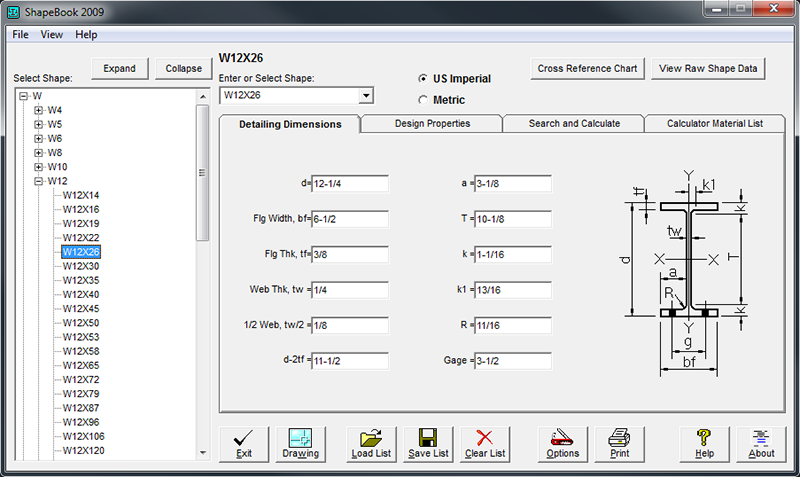 ShapeBook with 2D3DSteel 4.4.2009 screenshot