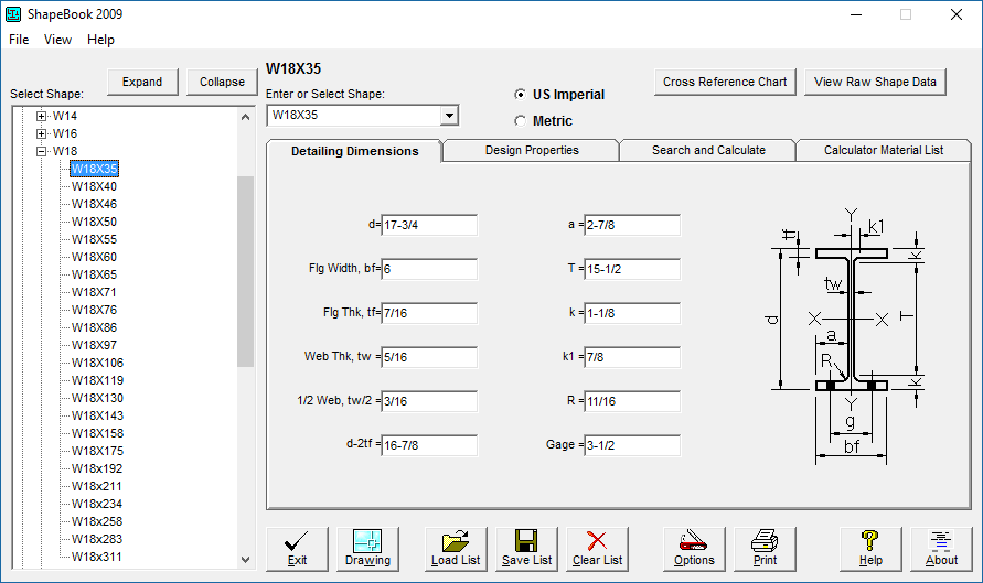 ShapeBook with 2D3DSteel, The structural steel shapes software